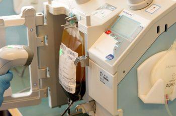 Scanning a blood bag